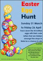 Easter Egg Hunt in Wells shops
