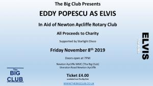 Elvis charity night at the Big Club