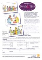 Cards for sale on behalf of 'End Polio Now campaign'