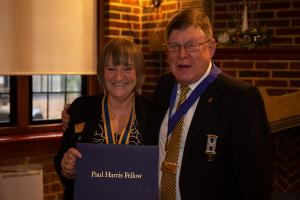 Richard Deavin is made a Paul Harris Fellow