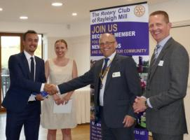The Rotary Club of Rayleigh Mill welcomes two new members
