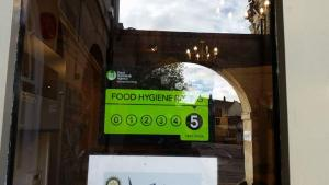 5/5 food hygiene rating