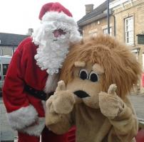Santa at Deepings Christmas Market
