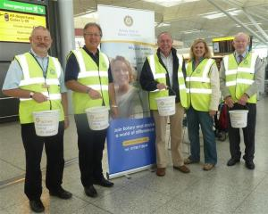 Collecting at Stansted Airport for Famine Relief in the Horn of Africa