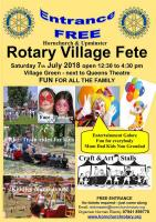 This years Rotary Village Fete was held on 7th July 2018