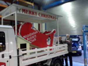 The Completed Middleton Xmas Float