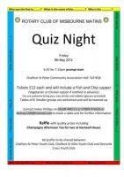 Charity Quiz Night 2014