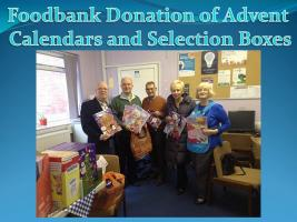 Foodbank Donation of Advent Calendars and Selection Boxes