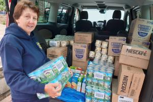 Jubilee Foodbank receive a delivery of food