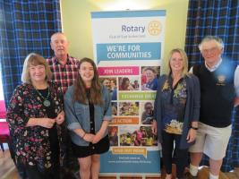Rotary helps Ladies Football Score in Sutherland