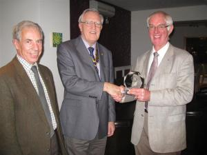 The Club receives the District Rotary Foundation Award