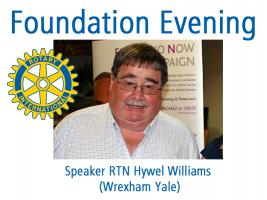 Evening Meeting - 6.30 for 7.00pm Foundation Evening @ The Dining Rooms