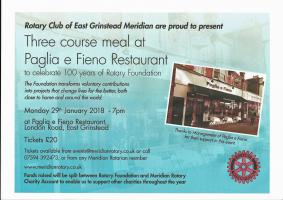 Fundraising Event at Paglia e Fieno Restaurant East Grinstead