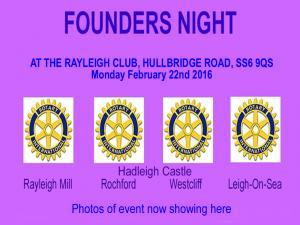 Our Club Founders Night with meal