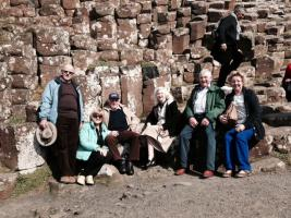 Delegates at the Giant's Causeway and in Belfast