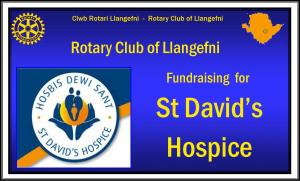 Click to view details of our fund raising in aid of  St David's Hospice.