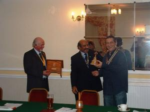 Presentation of Lectern and Bell from Furness Rotary Club Oct 2009