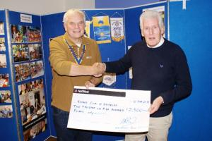 Whiteley Council present cheque to Rotary