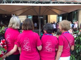 SEVEN LADIES IN PINK AT THE RI CONVENTION