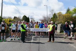 Start of the annual  Gryffe Valley10 K Run