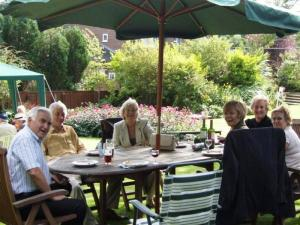 Guests enjoying last year's Garden Party