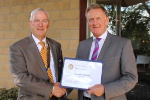 Rotarian honoured with prestigious award