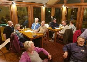Quiz and supper at the Baron