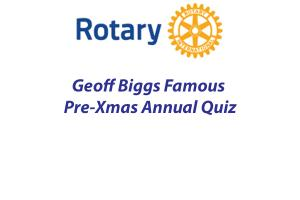 Annual Club Quiz by Geoff Bigg