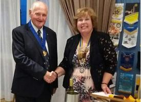 New President for Senlac Rotary Club - Linda Fearn
