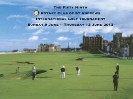 Rotary Club of St Andrews International Golf Tournament 2013