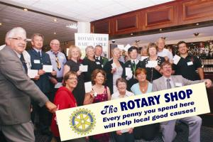 ROTARY SHOP CHEQUE PRESENTATIONS-AUGUST 12th 2009