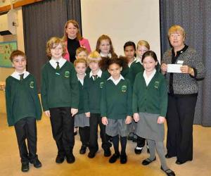 8 November 2010 - local school donates over £150 to Club's Polio Fund