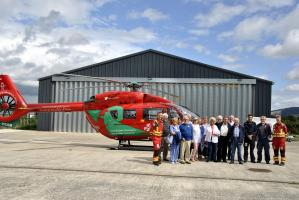 Lunch meeting at the Wales Air Ambulance in Welshpool
