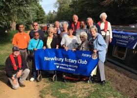 Guests from The Polio Group with their Rotarian crew enjoying their outing