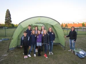 Elvetham Heath Guides get new tents