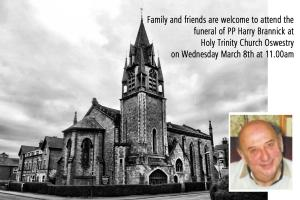 Funeral of PP Harry Brannick - Holy Trinity Church, 11.00am