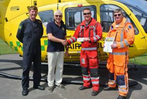 Presentation of £2,500 cheque to Air Ambulance