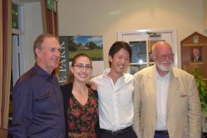 The Haddenham & District hosts Frank Readman & Peter Jones with scholars Kelly and Takashi