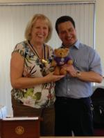 DG Visit & Hadley the Teddy Bear - August 2016