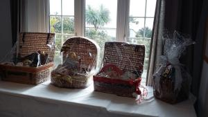 Prize hampers for the Christmas Lunch raffle on 9 December.