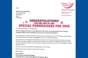 Special Fundraisers for 2016