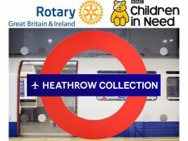 Children in Need Collection at London Heathrow