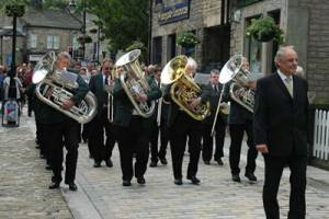 2014 Visit to Hebden Bridge Brass Band Parade