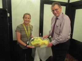 Cheque and Cake for Dorset and Somerset Air Ambulance