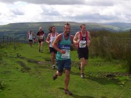 Runners at top of Black Hill