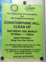 Corstorphine Hill Clean Up