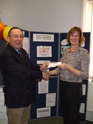 Cheque Presentation to HomeStart