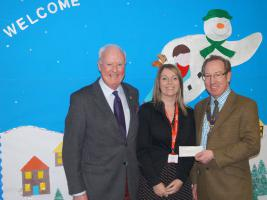 Tree of Light 2013 Cheques Presented by Rotary Club of Oswestry