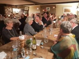 President's night at the Riverside in Aymestry