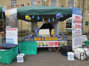Our stall at Highworth Market on 2nd May 2015